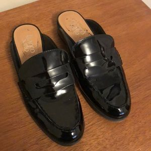 Patent leather loafer mules 7.5